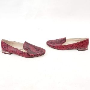 Zara Basic Collection Red Faux🐍 Loafers GORGEOUS!